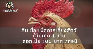 สินเชื่อ เพื่อการเลี้ยงสัตว์ กู้ได้ไม่เกิน 1 ล้าน ดอกเบี้ย 100 บาท ต่อปี